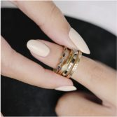 metier by tomfoolery: 5 stone emearld ring