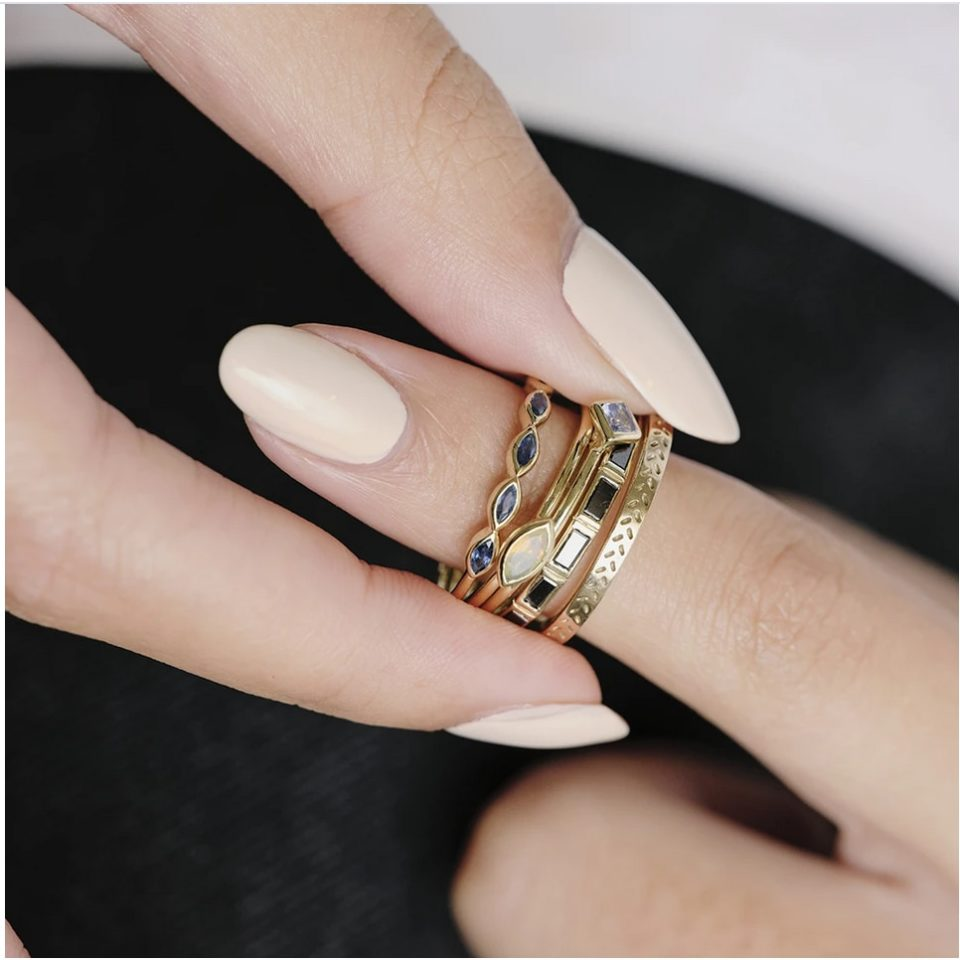 metier by tomfoolery: 5 stone citrine ring