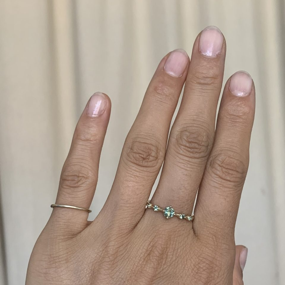 Limited Edition Gradient Sapphire & Tourmaline Small Horizon Ring, wwake, tomfoolery