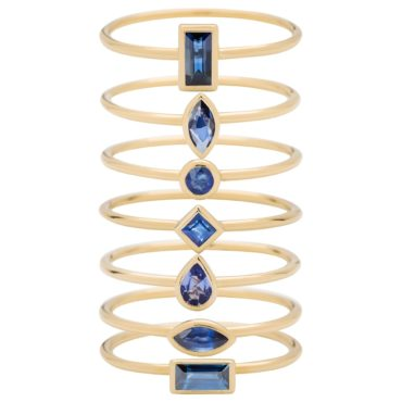 metier by tomfoolery: Blue sapphire stacking rings