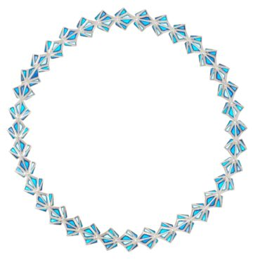 Tomfoolery; Crystal Clara Aquarius Ombre Necklace, Simon Harrison
