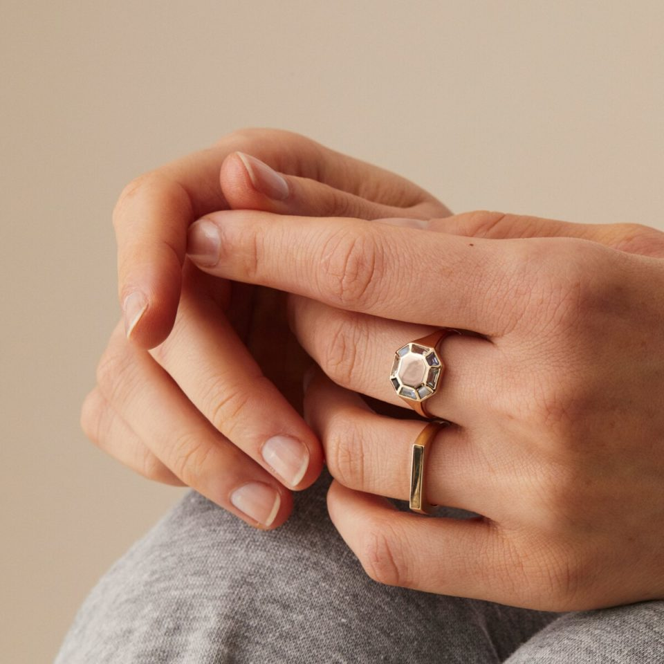 Engravable personalised ring by Tableau available to shop online at tomfoolery London   www.tomfoolerylondon.co.uk