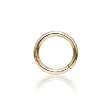 "Maria Tash, 1/4"" Yellow Gold Sleeper Hoop, Tomfoolery"