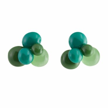 Multicolour Glass Stud Earrings, tomfoolery, beira