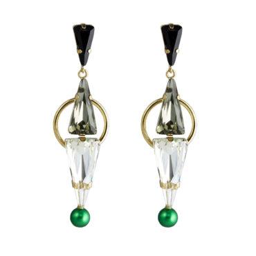 Daenarys Crystal Long Drop Earrings, Tomfoolery, Philippe Ferrandis,