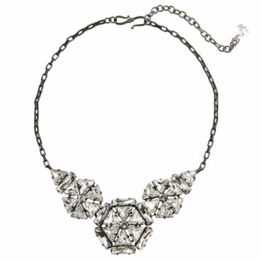Cosmo Queen Crystal Three Circle Statement Necklace, Tomfoolery, Philippe Ferrandis,