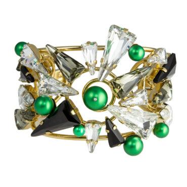 Large Daenarys Crystal Cuff Bracelet, Tomfoolery, Philippe Ferrandis,