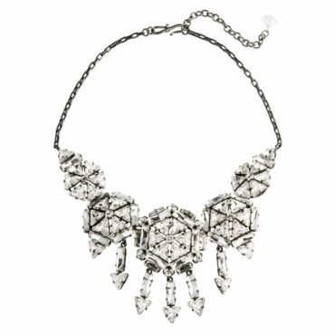 Cosmo Queen Crystal Five Circle Statement Necklace, Tomfoolery, Philippe Ferrandis,