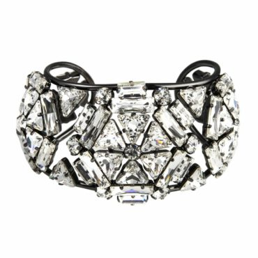 Cosmo Queen Crystal Cuff Bracelet, Tomfoolery, Philippe Ferrandis,