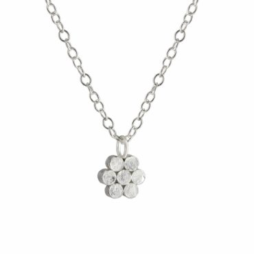 Silver Seven Circle Cluster Pendant Necklace, Tomfoolery, Emily Collins,