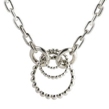 Silver Spinning Bead Chain Pendant Necklace, katerina andriagiannaki , TOMFOOLERY