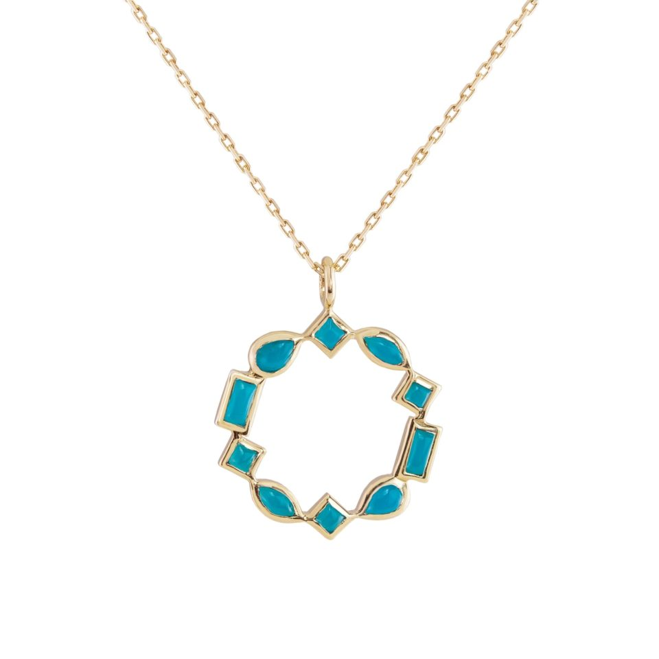 metier by tomfoolery: Turquoise, mixed cut pendant