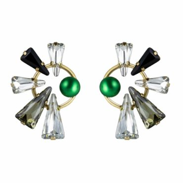 Full Circle Daenarys Crystal Large Stud Earrings , Tomfoolery, Philippe Ferrandis,