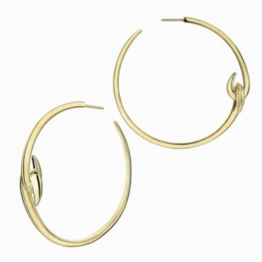 Shaun Leane, Gold Vermeil Large Hook Hoop Earrings, Tomfoolery