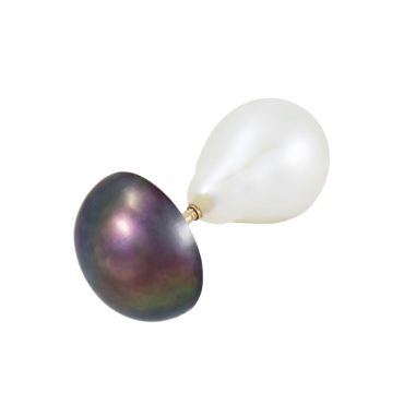 Mixed Threaded Bar Peacock Pearl Single Earring,  holly o'hanlon, tomfoolery
