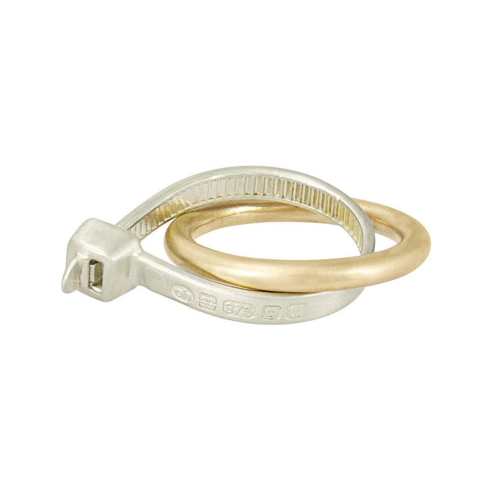 The Right Fit White & Yellow Gold Ring, holly o'hanlon, tomfoolery