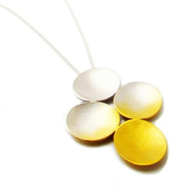 Silver & Gold Plated Electra Quad Pendant,  Kokkino, tomfoolery