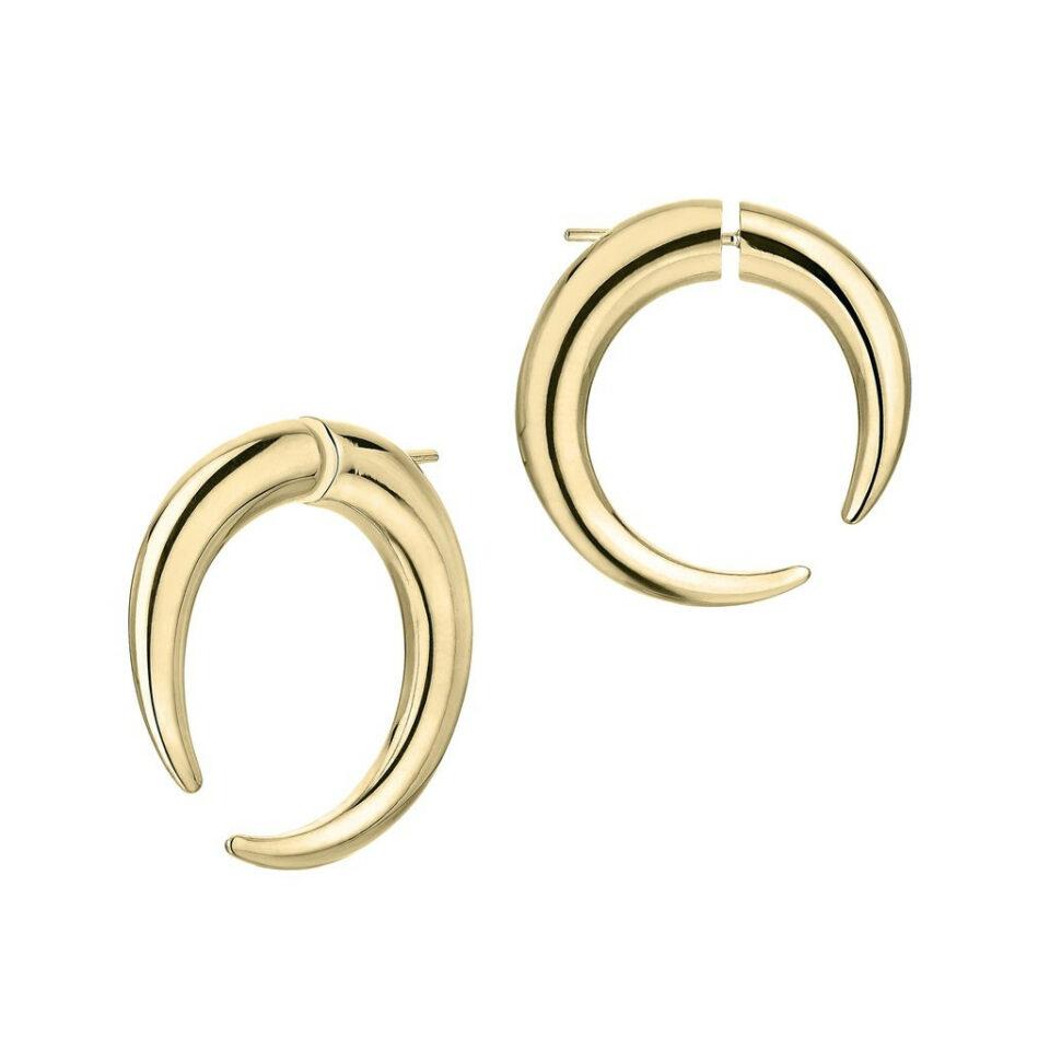 Shaun Leane, Large Hoop Talon Gold Vermeil Earrings, Tomfoolery