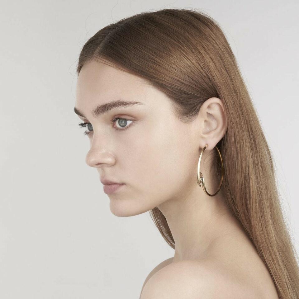 Shaun Leane, Gold Vermeil Large Hook Hoop Earrings, Tomfoolery