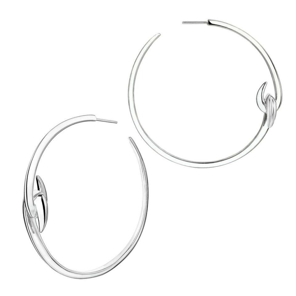 Shaun Leane, Silver Large Hook Hoop Earrings, Tomfoolery