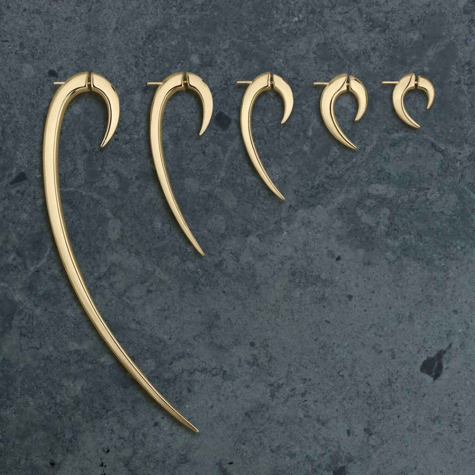 Shaun Leane, Large Hook Earrings gold plated, tomfoolery