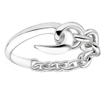Silver Hook Chain Ring, shaun leane, tomfoolery