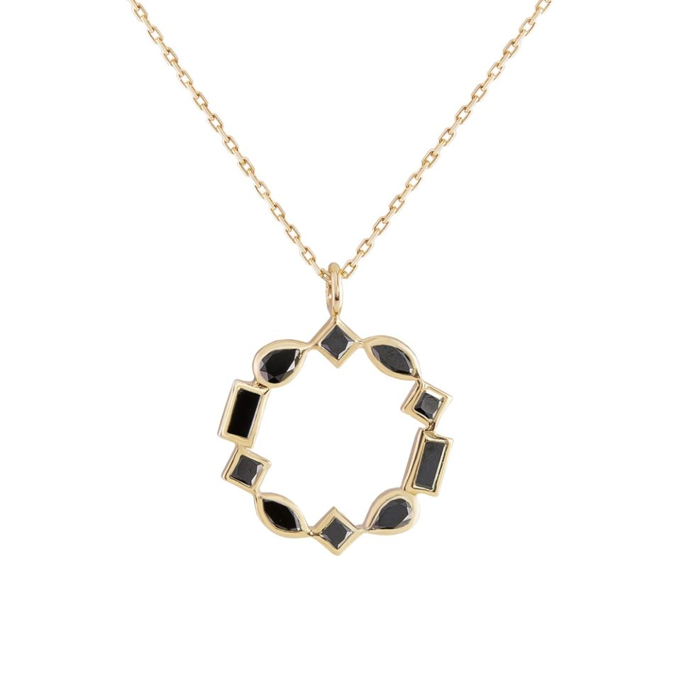 metier by tomfoolery: Black Diamond, mixed cut pendant
