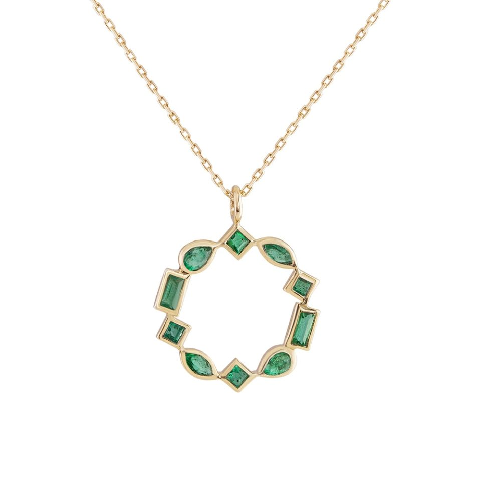 metier by tomfoolery: Emerald, mixed cut pendant