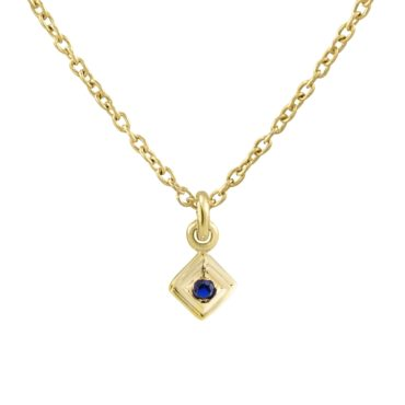 tomfoolery, Gold Plated Petite Square Gem Pendant, Everyday by tomfoolery