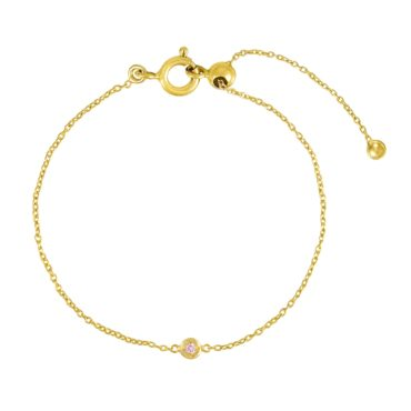 tomfoolery, Gold Plated Petite Circle Gem Bracelet, Everyday by tomfoolery