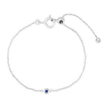tomfoolery, Silver Petite Circle Gem Bracelet, Everyday by tomfoolery