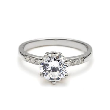 Anna Sheffield, 1ct Hazeline Solitaire Diamond Ring, Tomfoolery