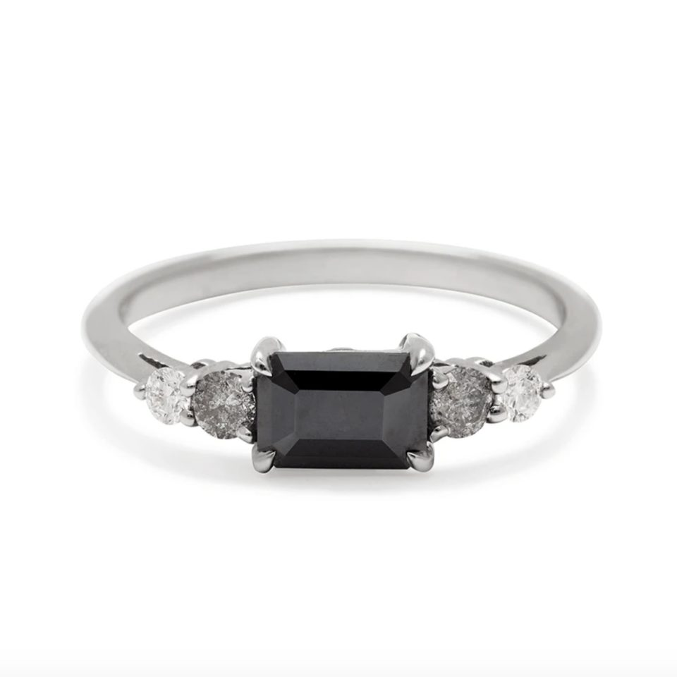 Anna Sheffield, Bea Black Diamond Five Stone Ring, tomfoolery
