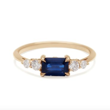Anna Sheffield, Bea Blue Sapphire Five Stone Ring, tomfoolery