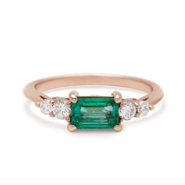Anna Sheffield, Bea Emerald Five Stone Ring, tomfoolery