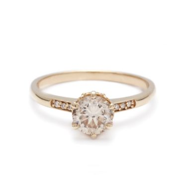 Anna Sheffield, Hazeline Champagne Diamond Solitaire Ring, tomfoolery