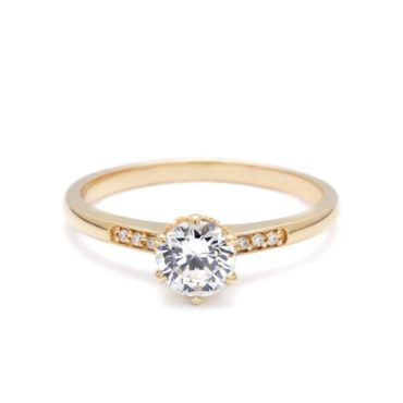 Anna Sheffield, 0.50ct Hazeline White Diamond Solitaire Ring, tomfoolery