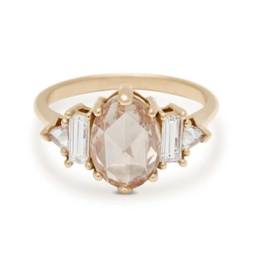 Anna Sheffield, 1.85ct Oval Rosecut Champagne Diamond Theda Ring, Tomfoolery