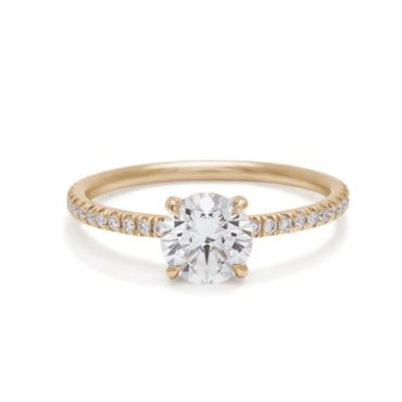 Anna Sheffield, 1ct Eleonore Pave Round Brilliant Diamond Ring, Tomfoolery