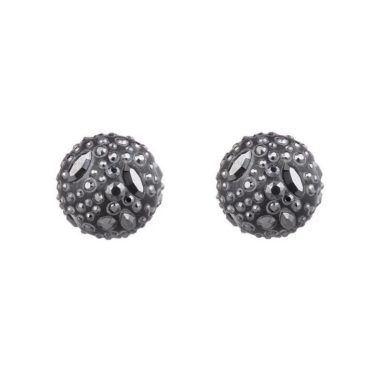 Tomfoolery: Alexis Bittar Noir Dust Watery Sphere Clip On Earrings