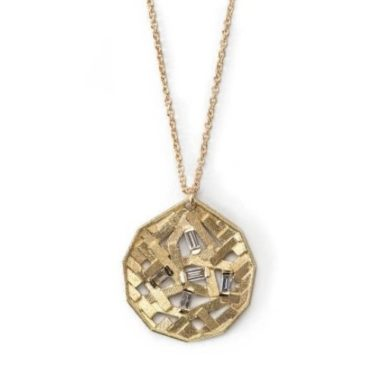 Chaos Parquet Koin Pendant Necklace, Tomfoolery, jo hayes ward