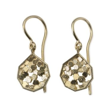 Chaos Hex Koin Drop Earrings, Tomfoolery, jo hayes ward