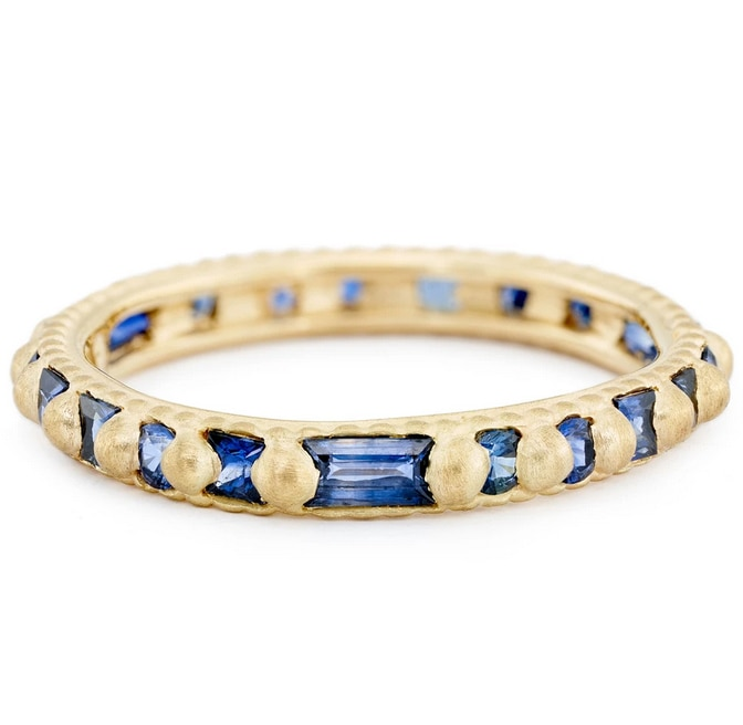 Blue Mix Cut Ramona Sapphire Ring, Polly Wales, tomfoolery