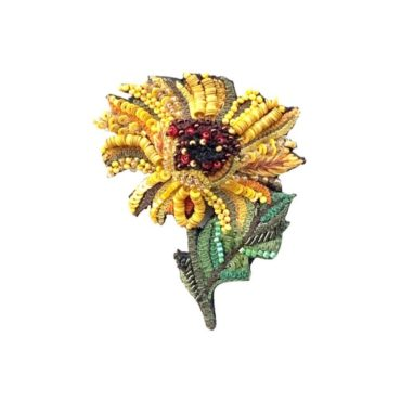 Sunflower Brooch, Trovelore, Tomfoolery London