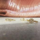 Muse by tomfoolery, 18ct Yellow Gold Diamond Trapezoid Maze Ring, tomfoolery