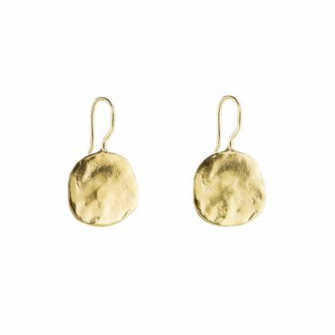Tomfoolery, Medium Gold Plated Ibiza Disc Earrings, Karen Hallam
