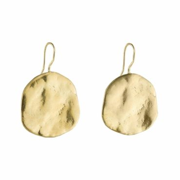 Karen Hallam, Large Gold Plated Ibiza Disc Earrings, Tomfoolery London
