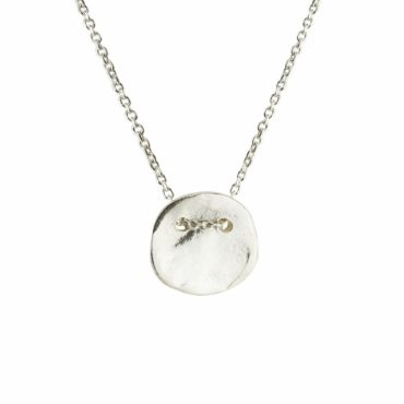 Small Silver Disc Necklace , Karen Hallam, Tomfoolery London