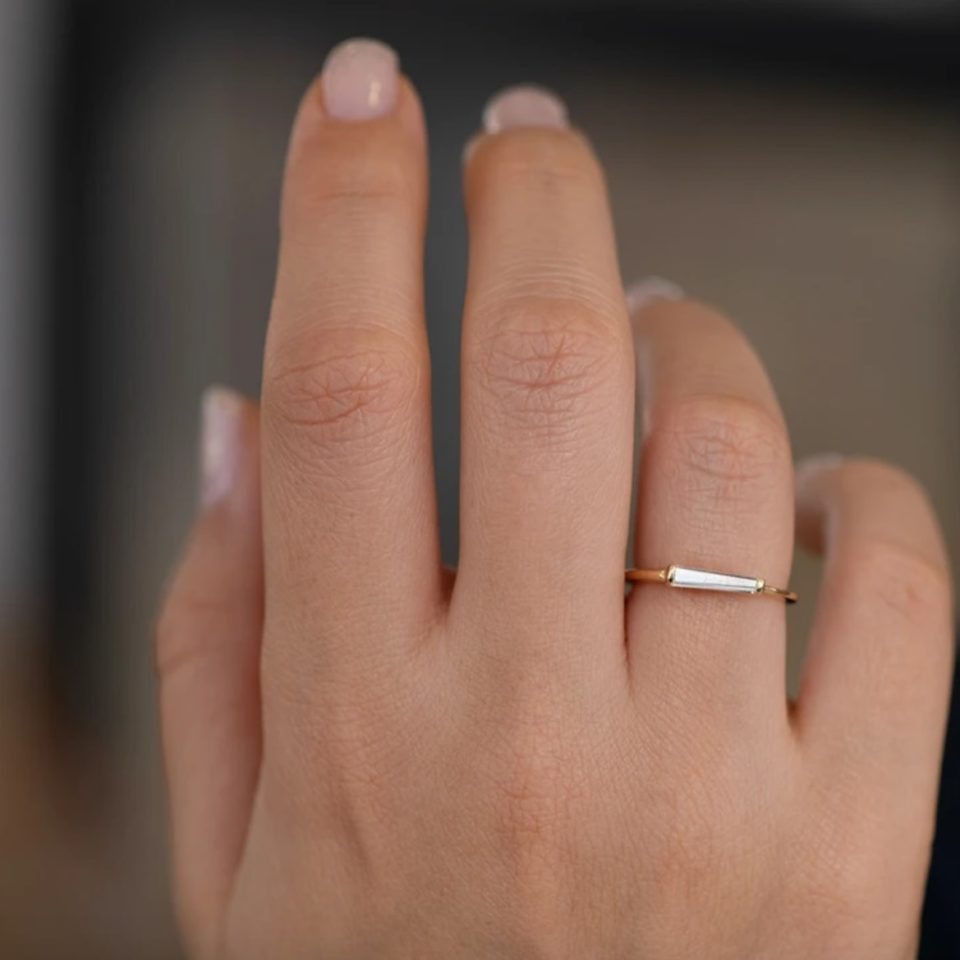 Artemer, Single Tapered Baguette Diamond Ring, tomfoolery