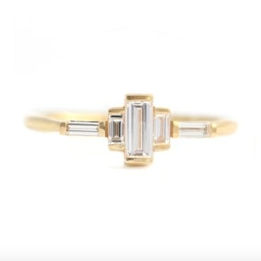 Artemer, Baguette Diamond Cluster Ring, tomfoolery